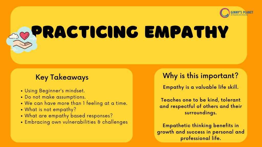 Empathy Workshop by Ginny's Planet- why is it important and the key takeaways