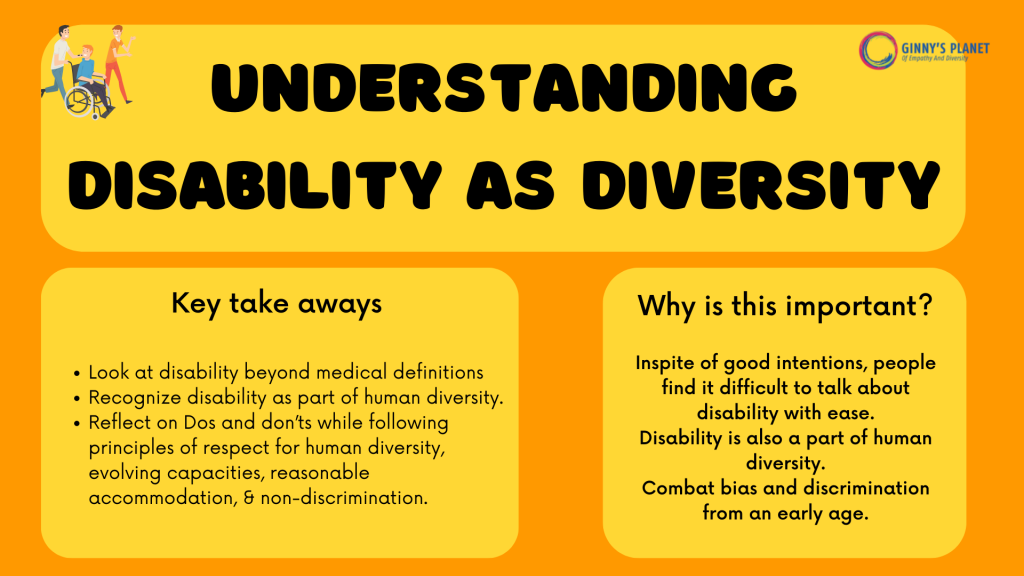 Disability as Diversity Workshop by Ginny's Planet- why is it important and the key takeaways