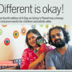 Photo of Mid-day article on A Day on Ginny's Planet